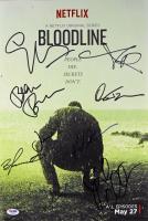 """Bloodline"" 12x18 Movie Poster Signed by (7) with Kyle Chandler, Linda Cardellini, Beau Bridges, Jacinda Barrett, John Leguizamo (PSA LOA)"