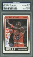 Michael Jordan Signed 1988-89 Fleer #17 (PSA Encapsulated)