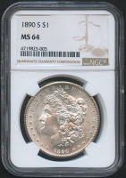 1890-S $1 Morgan Silver Dollar (NGC MS 64) at PristineAuction.com