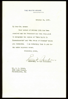 Calvin Coolidge Signed 7x9 Letter (Beckett COA) at PristineAuction.com