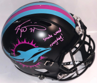 """Ricky Williams Signed Miami Dolphins Full-Size Matte Black Miami Vice Speed Helmet Inscribed """"Smoke Weed Everyday!"""" (PSA COA)"""