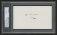 "Alec Guinness Signed 3x5 Index Card Inscribed ""1993"" (PSA Encapsulated) at PristineAuction.com"
