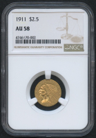 1911 $2.50 Indian Quarter Eagle Gold Coin (NGC AU 58) at PristineAuction.com
