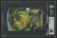 "Frank Oz Signed ""Star Wars"" 4x5.5 Postcard Inscribed ""Yoda"" (BAS Encapsulated) at PristineAuction.com"