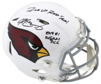 "Kyler Murray Signed Arizona Cardinals Full-Size Authentic On-Field Speed Helmet Inscribed ""Rise Up Red Sea"" & ""2019 #1 Overall Pick"" (Beckett COA)"