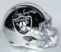 """Howie Long Signed Raiders Full-Size Chrome Speed Helmet Inscribed """"HOF 00"""" (Beckett COA) at PristineAuction.com"""