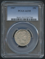 1907 25¢ Barber Quarter (PCGS AU 55) at PristineAuction.com