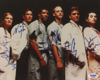 """ER"" 8x10 Photo Cast-Signed by (5) with George Clooney, Anthony Edwards, Sherry Stringfield, Noah Wyle (PSA COA) at PristineAuction.com"