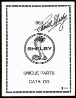 Carroll Shelby Signed 1968 Shelby Unique Parts Catalog (Beckett LOA) at PristineAuction.com
