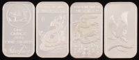 Lot of (4) .999 Fine Silver Buillon Bars with (2) 1 Ounce & (2) 1 Troy Ounce