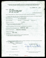 "Cher Signed 1969 ""The David Frost Show"" Contract (Beckett COA)"