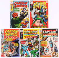 "Lot of (5) 1969-71 ""Captain America"" 1st Series Marvel Comic Books with #115, #118, #131, #134 & #136"