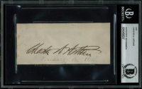 Chester A. Arthur Signed 2.25x5.5 Cut (BGS Encapsulated) at PristineAuction.com