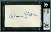 Clark Gable Signed 3x5 Index Card (BGS Encapsulated)