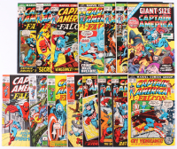 "Lot of (15) 1971-75 ""Captain America"" 1st Series Marvel Comic Books with #1 & #137-169 at PristineAuction.com"