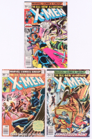 "Lot of (3) 1977-78 ""The Uncanny X-Men"" 1st Series Marvel Comic Books with #106, #108 & #110"
