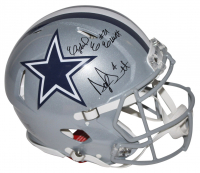 Dak Prescott & Ezekiel Elliott Signed Dallas Cowboys Full-Size Authentic On-Field Speed Helmet (Fanatics Hologram)