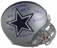 Tony Dorsett Signed Dallas Cowboys Full-Size Authentic On-Field Helmet with (6) Career Stat Inscriptions (Beckett COA)