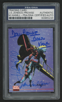 "Mark Hamill, James Earl Jones, & David Prowse Signed 1994 Topps Star Wars Galaxy Series 2 #260 Inscribed ""Darth Vadar"" (PSA Encapsulated) at PristineAuction.com"