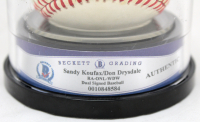 Sandy Koufax & Don Drysdale Signed ONL Baseball with Display Case (Beckett Encapsulated) at PristineAuction.com
