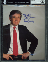 "Donald Trump Signed 8.5x11 Photo Inscribed ""Best Wishes"" (BGS Encapsulated)"