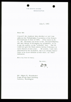 Dwight D. Eisenhower Signed 1955 Letter (Beckett LOA)