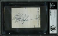 Elizabeth Taylor Signed 2.5x3.5 Cut (BGS Encapsulated)
