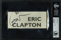 Eric Clapton Signed 2.5x5.75 Cut (BGS Encapsulated)