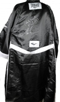 """Iron"" Mike Tyson & Evander Holyfield Signed Everlast Boxing Robe (PSA COA)"