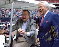"George H.W. Bush & Robert Kraft Signed 8x10 Photo Inscribed ""We Are All Patriots"" (Beckett LOA) at PristineAuction.com"