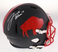 Josh Allen Signed Buffalo Bills Throwback Matte Black Full-Size Speed Helmet (Beckett COA) at PristineAuction.com