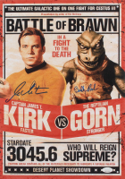 """William Shatner & Bobby Clark Signed """"Star Trek"""" 12x17 Movie Poster Print (JSA COA)"""