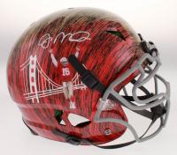 Joe Montana Signed San Francisco 49ers Full-Size Authentic On-Field Hydro-Dipped Helmet (JSA Hologram)