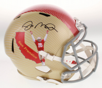 Joe Montana Signed San Francisco 49ers Full-Size Hydro-Dipped Speed Helmet (JSA COA)
