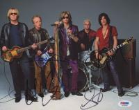 Aerosmith 8x10 Photo Band-Signed by (4) with Steven Tyler, Brad Whitford, Tom Hamilton & Joe Perry (PSA LOA) at PristineAuction.com