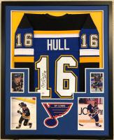 """Brett Hull Signed 34x42 Custom Framed Jersey Inscribed """"HOF 09"""" (Beckett COA) at PristineAuction.com"""