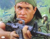 "Tom Berenger Signed ""Platoon"" 11x14 Photo Inscribed ""Barnes"" (JSA COA)"