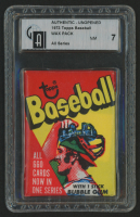 1973 Topps Baseball Wax Pack (GAI 7) at PristineAuction.com