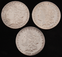 Lot of (3) Morgan Silver Dollars with 1885, 1886, & 1921