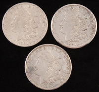 Lot of (3) Morgan Silver Dollars with 1921, 1921-S, & 1921-D