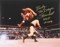 """Ricky """"The Dragon"""" Steamboat Signed WWE 11x14 Photo Inscribed """"HOF 2009"""" (JSA COA) at PristineAuction.com"""