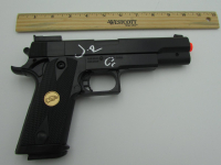 """Jon Bernthal Signed """"Punisher"""" Replica Air Sport .45 Caliber Pistol with Hand-Drawn Sketch (JSA COA) at PristineAuction.com"""