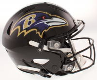 "Ray Lewis Signed Baltimore Ravens Full-Size Authentic On-Field SpeedFlex Helmet Inscribed ""HOF 18"" & ""SB XXXV MVP"" (Beckett COA) at PristineAuction.com"