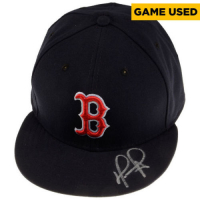 David Ortiz Signed Boston Red Sox Game-Used New Era Baseball Hat (Fanatics Hologram) at PristineAuction.com