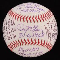 Denny McLain Signed OML Baseball with Multiple Inscriptions (PSA COA)