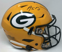 Aaron Rodgers Signed Green Bay Packers Full-Size Authentic On-Field SpeedFlex Helmet (Fanatics Hologram) at PristineAuction.com