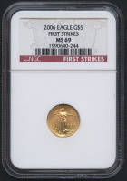 2006 $5 Five Dollars American Gold Eagle Saint-Gaudens 1/10 Oz Gold Coin - First Strikes (NGC MS 69) at PristineAuction.com