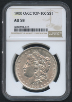1900-O $1 Morgan Silver Dollar - CC Top-100 (NGC AU 58) at PristineAuction.com