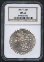 1882-CC $1 Morgan Silver Dollar (NGC MS 63) at PristineAuction.com