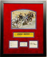 "Jack Nicholson, Dennis Hopper & Peter Fonda Signed ""Easy Rider"" 18x22 Custom Framed Display (JSA LOA) at PristineAuction.com"